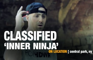 """A-SIDES"" EXCLUSIVE: CLASSIFIED & DAVID MYLES UNLEASH THEIR ""INNER NINJA"" IN CENTRAL PARK"